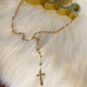 Beautiful rosary in laminated gold from brazil